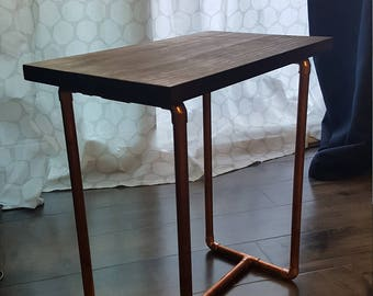Copper Pipe End Table or Plant Stand