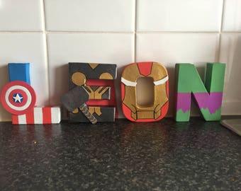 Disney/Marvel/ DC superheros letters,sign, table decoration