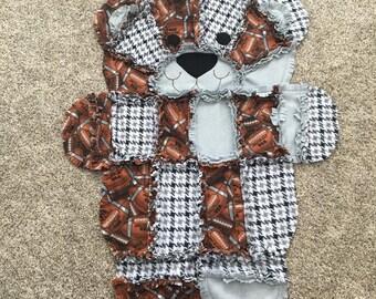 Football Teddy Bear Blanket