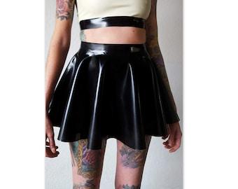 Latex full circle skater skirt