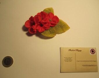 Red hairflower clip