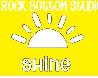 Sun Shine SVG PNG Digital File Download
