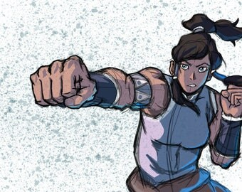 Legend of Korra Original Art Print