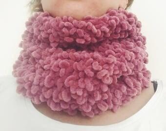 Chunky infinity scarf Dusty Rose