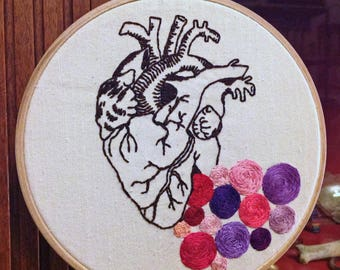 "Embroidery: ""heart human and colors"""