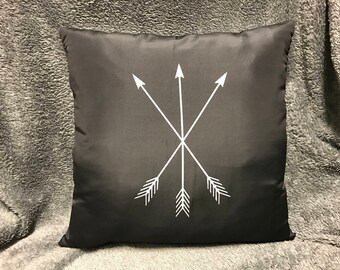 Triple Crossed Arrows Pillow - Available With or Without Pillow Insert
