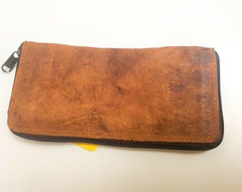 Genuine Leather Women purse wallet hand carry
