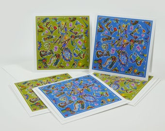 Melbourne City Mixed Greeting Card Set of 4