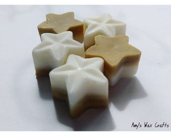 5 Creamy Coconut, Scented, Soy Wax, Star, Wax Melts, Fragrance