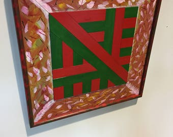 Colourful Wood wall art Piece, Office and Reception art , Corprate art Wall Sculpture