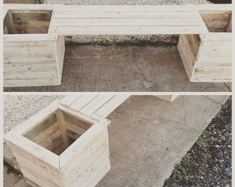 Planter boxes with two seater bench 50.00