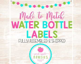 Made to Match - Water Bottle Labels, Set of 10