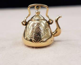 Gold Teapot Pendant