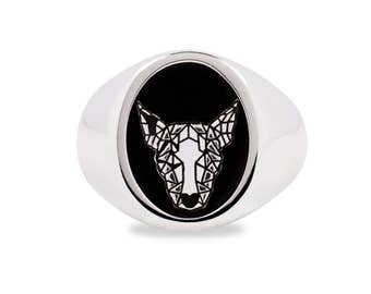 Bull Terrier Dog Silver 925 ring