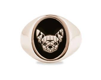 Chihuahua Dog Bronze Ring