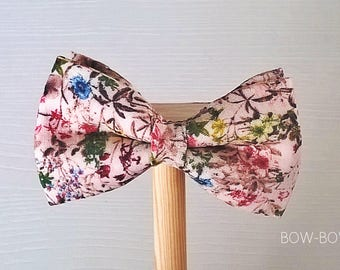 BOW-BOW craft bow tie bobby darin, flowers, multicolored, handmade bow tie, classic elegant sophisticated, feito man Galicia, children fashion