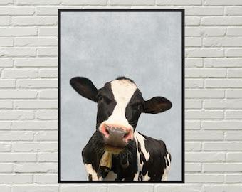 COW picture, cow wall decor, printable art, country decor, kitchen art, cute cow print, cow art, farm art, farm print, digital download