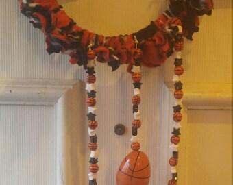 Basketball Fleece Swing Foraging Toy