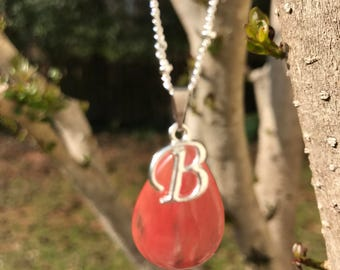 Silver Pendant Necklace with Optional Initial