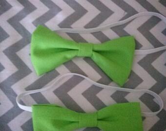 Boys green bow tie