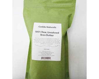 Unrefined Shea Butter by Gaddo Naturals - Raw Ivory Shea Butter - 1 lb (16 oz)
