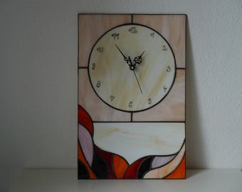 Tiffany glass wall clock