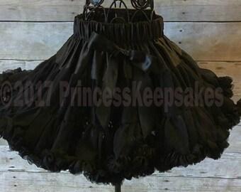 Black Pettiskirt, Black Skirt,  Girl Dance Wear, Breakfast at Tiffanys