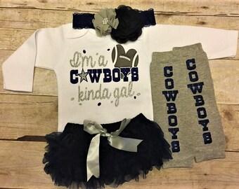 Dallas Cowboys, Dallas Cowboys baby girl, cowboys bodysuit, infant girl cowboys outfit