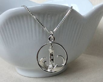 Sterling Silver Lighthouse Necklace