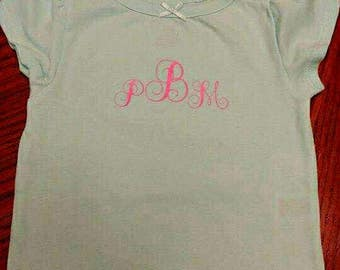 Shirt with Initials with vinyl