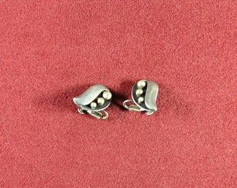 Sterling Silver Earrings made by Sigfredo Pineda 1950s