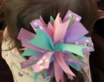 Girls spiked puff hair bow
