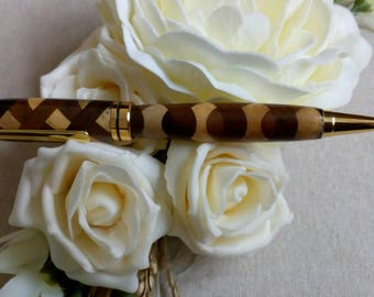 Hand crafted laminated wood pen, handmade gift for someone special for her for him, unique,oneoff , exotic wood