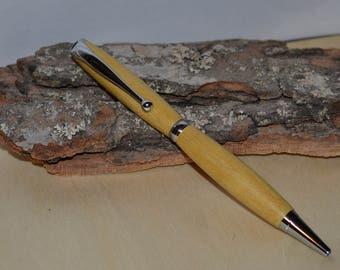 "In ""YellowHeart"" slimline pen"