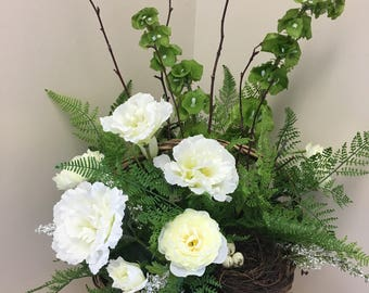 Touch of Nature, Artificial Basket Arrangement, Flower Arrangement, Birds Nest Flowers
