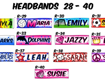 Airbrushed Headbands Page 2 - Free US Mail Shipping