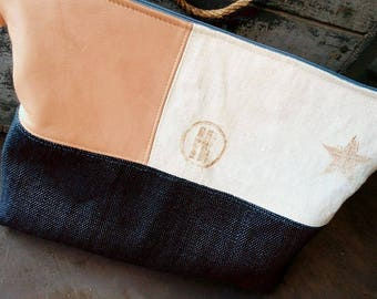 Navy Blue linen cover