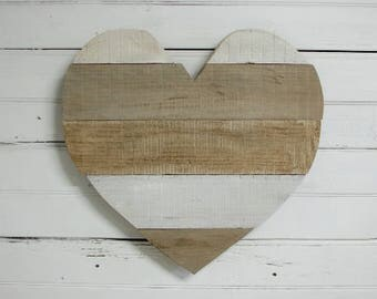 Wood Heart Wall Decor, Kids Room Decor, Wood Wall Hanging Decor, Wooden Heart, Accent Wall, Reclaimed Wood, Wedding Decor - FREE Shipping