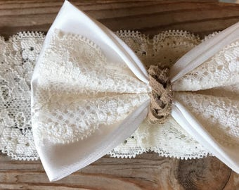 Lacy Bow Headband