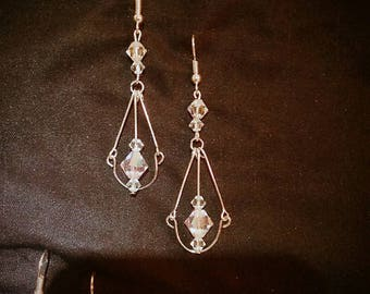 SWAROVSKI// Dangle// Drop // Earrings//Silver//Casual//Gifts for her