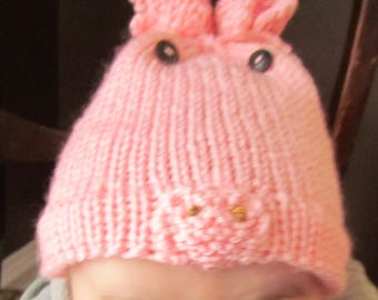 Miss or Mr Piggy hat