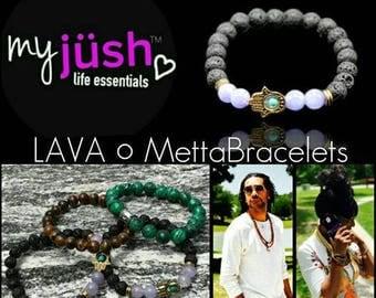 myjüsh lifestyle essentials: Lava Metta Hamsa Hand Charm Crystal Bracelets