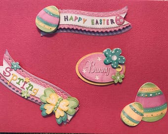 Happy Easter handcrafted greeting card