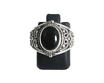 ONYX, Sterling Silver 925 solid silver ring ring, ring black onyx, natural stone, silver jewelry