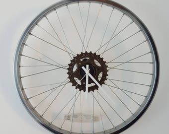 Wall clock-time Clock upcycling bicycle wheel bike