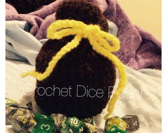 Crochet Dice Pouch (Any color available!)