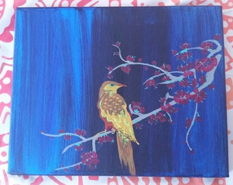 Bird on a Limb Painting