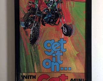 Vintage Mini Bike Print -CAT Get It On