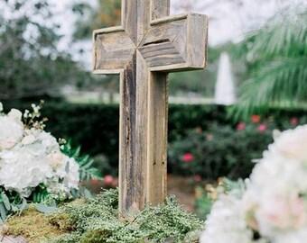 Rustic wooden cross, reclaimed wooden cross, wedding cross,  003