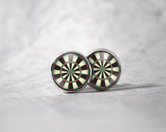 Earrings cabochon 10 mm / Dart